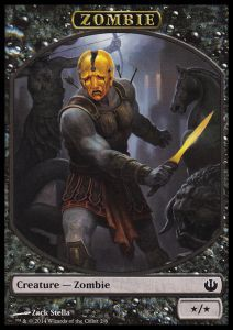 Tokens Magic Magic the Gathering Token/Jeton - Incursion Dans Nyx - 02/6 Zombie