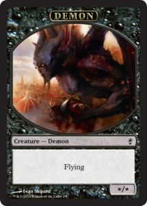 Tokens Magic Magic the Gathering Token/jeton - Conspiracy - Démon