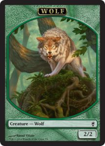 Token Magic Magic the Gathering Token/jeton - Conspiracy - Loup