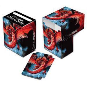 Boites de rangement illustrées Accessoires Pour Cartes Deck Box Ultra Pro - Dragon rouge - ACC