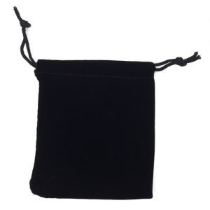 Dés et compteurs Accessoires Pour Cartes Petit sac à dés velour - Noir - ACC