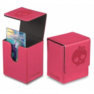 Boites de rangement illustrées  Deck Box Ultra Pro - Flip Box aimantée mate - Rose - ACC