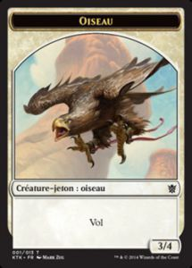 Tokens Magic Magic the Gathering Token/Jeton - Khans de Tarkir n°01 - Oiseau
