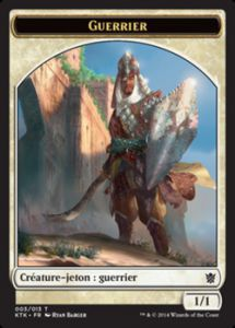 Tokens Magic Accessoires Pour Cartes Token/Jeton - Khans de Tarkir n°3 - Guerrier