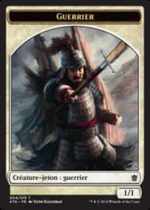 Tokens Magic Accessoires Pour Cartes Token/Jeton - Khans de Tarkir n°4 - Guerrier