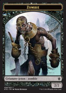 Tokens Magic Magic the Gathering Token/Jeton - Khans de Tarkir n°06 - Zombie