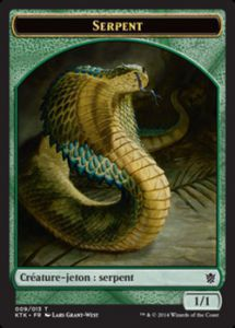 Tokens Magic Magic the Gathering Token/Jeton - Khans de Tarkir n°09 - Serpent