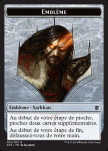 Tokens Magic Magic the Gathering Token/Jeton - Khans de Tarkir n°12 - Emblème : Sarkhan