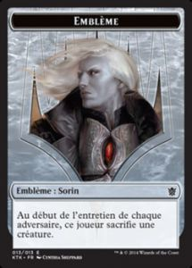 Tokens Magic Magic the Gathering Token/Jeton - Khans de Tarkir n°13 - Emblème : Sorin