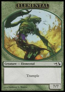 Tokens Magic Magic the Gathering Token/Jeton - Duel Decks: Elves vs Goblins n°1 - Elemental