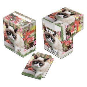 Boite de rangement illustrée Deck Box Ultra Pro - Grumpy Cat - Flower - ACC