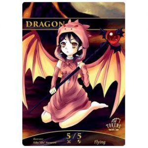 Tokens Magic Accessoires Pour Cartes Token/jeton foil - Dragon (Fillette)