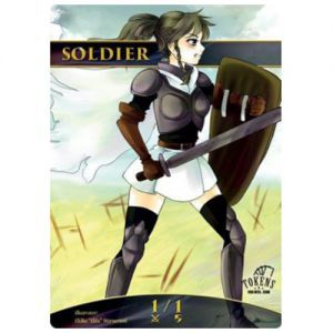Tokens Magic Token/jeton Foil - Soldat (gris)