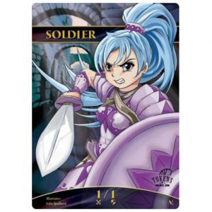 Tokens Magic Magic the Gathering Token/jeton Foil - Soldat (violet)