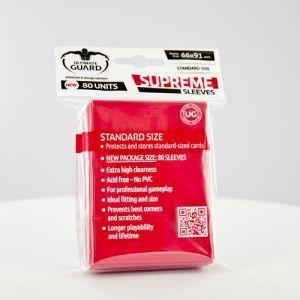 Protèges Cartes  80 pochettes - Supreme - Rouge
