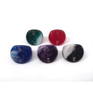 Dés Dé à 3 Faces - ACC - 16mm (couleurs selon stock)