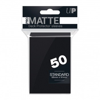 Protèges Cartes Accessoires Pour Cartes 50 pochettes - Pro Matte - Noir