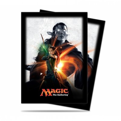 Protèges Cartes illustrées  Magic Origines - 80 Pochettes - Nissa