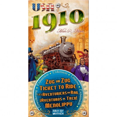 Thème : Véhicules Jeux de Plateau Les Aventuriers Du Rail - Usa - Extension 1910
