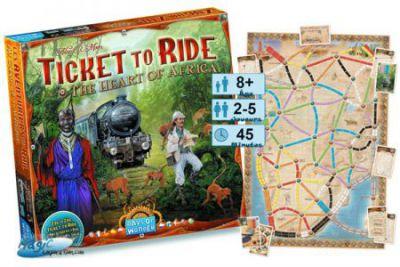 Thème : Véhicules Jeux de Plateau Les Aventuriers Du Rail - Au Coeur De L'afrique