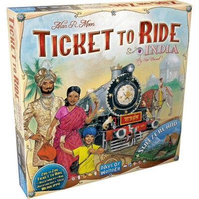 Thème : Véhicules Jeux de Plateau Les Aventuriers Du Rail - Europe - Inde & Suisse