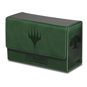 Boite de rangement illustrée Magic the Gathering Deck Box - Double Flip - Mana Vert