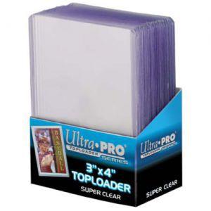 Protèges Cartes Accessoires Pour Cartes Toploader - Super Premium - Clear - par 25