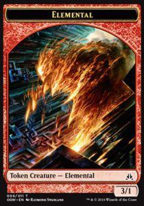 Tokens Magic Accessoires Pour Cartes Token/Jeton - Serment Des Sentinelles-elemental (rouge)