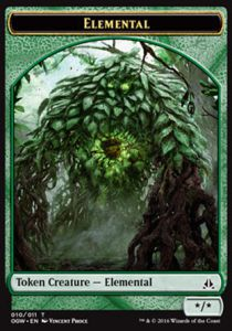 Tokens Magic Token/Jeton - Serment Des Sentinelles-elemental (vert)
