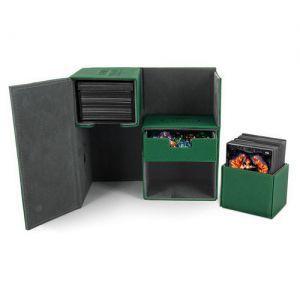 Boites de Rangements Accessoires Pour Cartes Deck Box Ultimate Guard - Double 160 - Vert - T3 - Acc