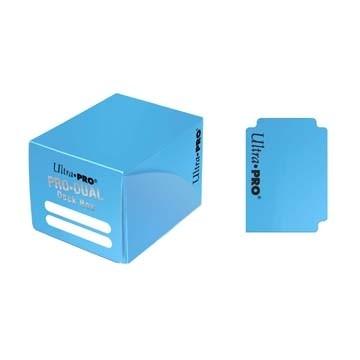 Boites de Rangements Accessoires Pour Cartes Deck Box Ultra Pro - Pro Dual - Bleu Clair