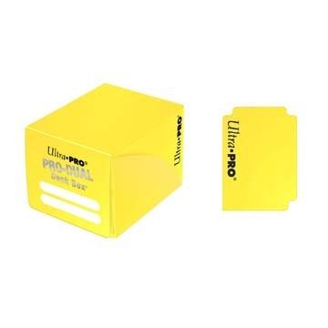 Boites de Rangements Accessoires Pour Cartes Deck Box Ultra Pro - Pro Dual - Jaune - ACC