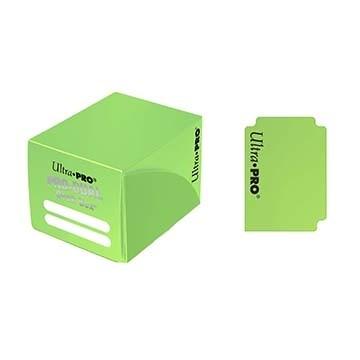 Boites de Rangements Accessoires Pour Cartes Deck Box Ultra Pro - Pro Dual -  Vert Clair - ACC
