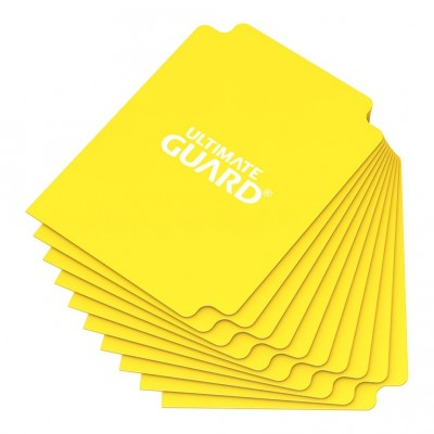 Boites de Rangements Deck Dividers Ultimate Guard - 10 Séparateurs De Cartes - Jaune - Acc