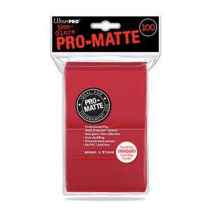 Protèges Cartes Accessoires Pour Cartes 100 pochettes Ultra Pro Matte - Rouge - ACC