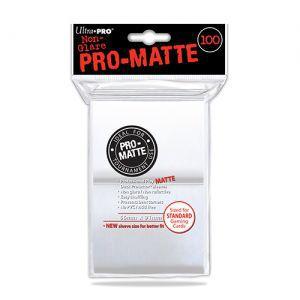 Protèges Cartes Accessoires Pour Cartes 100 pochettes Ultra Pro Matte - Blanc - ACC
