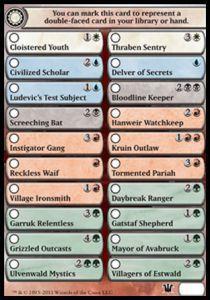 Tokens Magic Accessoires Pour Cartes Token/Jeton - Innistrad -  Check List - Liste Des Cartes