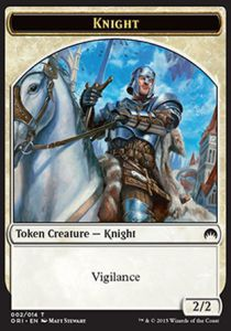 Tokens Magic Magic the Gathering Token/Jeton - Origines - Chevalier