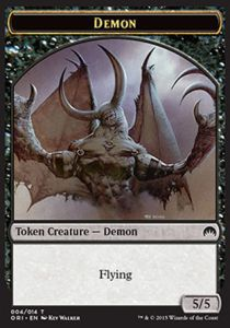 Tokens Magic Magic the Gathering Token/Jeton - Origines - Demon
