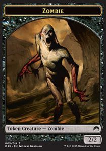 Token Magic Magic the Gathering Token/Jeton - Origines - Zombie