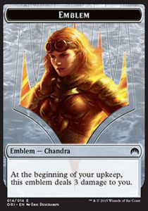 Tokens Magic Accessoires Pour Cartes Token/Jeton - Origines - Embleme de Chandra