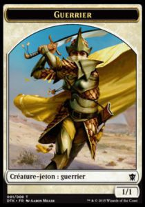 Token Magic Token/Jeton - Dragons De Tarkir - 01 Guerrier