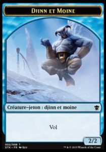 Tokens Magic Magic the Gathering Token/Jeton - Dragons De Tarkir - 02 Djinn Et Moine