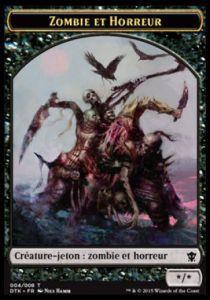 Tokens Magic Accessoires Pour Cartes Token/Jeton - Dragons De Tarkir - Zombie Et Horreur