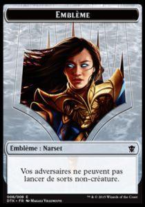 Tokens Magic Token/Jeton - Dragons de Tarkir - 08 Embleme Narset