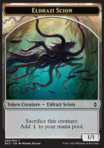 Tokens Magic Magic the Gathering Token/Jeton - Bataille De Zendikar - 03/14 Eldrazi Et Scion 3/14