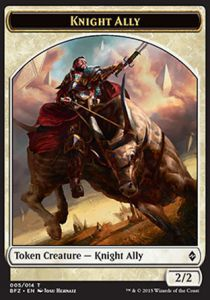Tokens Magic Magic the Gathering Token/Jeton - Bataille De Zendikar - 05/14 Chevalier Et Allié