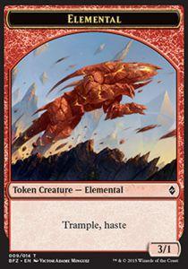 Tokens Magic Token/Jeton - Bataille De Zendikar - 09/14 Elemental Rouge