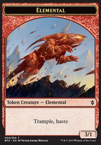 Tokens Magic Magic the Gathering Token/Jeton - Bataille De Zendikar - 09/14 Elemental Rouge