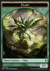 Tokens Magic Token/Jeton - Bataille De Zendikar - 10/14 Plante